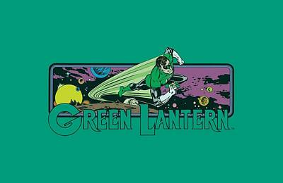 Lantern Digital Art - Dc - Green Lantern Cosmos by Brand A