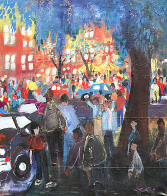 Painting - D.c. Market by Leela Payne