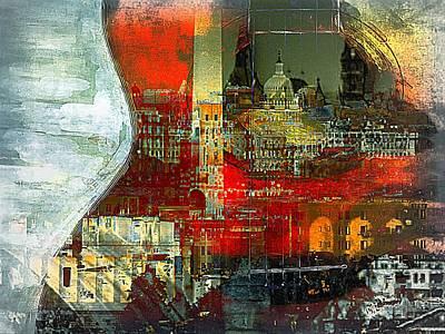 Georgetown Digital Art - Dc Music by Lynda Payton