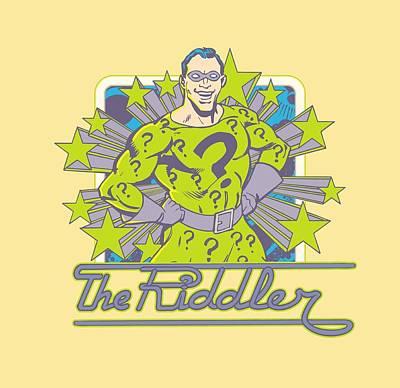 Riddler Digital Art - Dc - Riddler Stars by Brand A