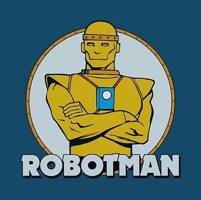 Halloween Digital Art - Dc - Robotman by Brand A