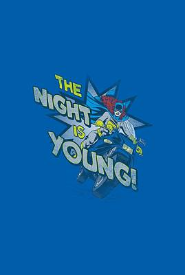 Batgirl Digital Art - Dc - The Night Is Young by Brand A