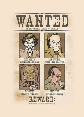 Lex Luthor Digital Art - Dc - Wanted Poster by Brand A