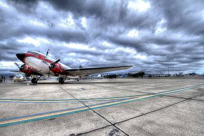 Dc3 And C47 Among The Mustangs At Salinas Air Show Art Print