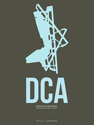 Washington D.c Digital Art - Dca Washington Airport Poster 1 by Naxart Studio