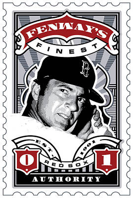 Bosox Digital Art - Dcla Carl Yastrzemski Fenway's Finest Stamp Art by David Cook Los Angeles