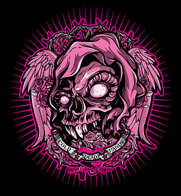 Dcla Cold Dead Hand Zombie Pink 3 Art Print by David Cook Los Angeles