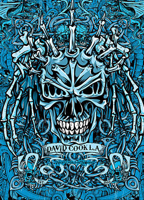 Dcla Designed Medievel Skull Artwork Art Print