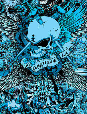 Dcla Designed Skull Heaven And Hell Art 6 Art Print