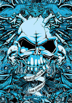Dcla Designed Skull Hell On Earth Artwork 7 Art Print