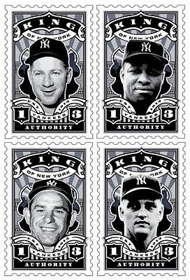 Dcla Kings Of New York Combo Stamp Artwork 2 Print by David Cook Los Angeles