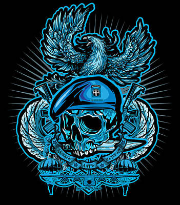Dcla Los Angeles Skull 82nd Airborne Artwork Art Print