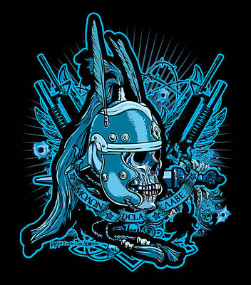 Dcla Skull Centurion Molan Labe 2 Art Print by David Cook Los Angeles