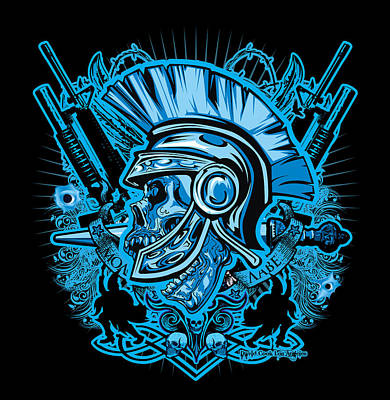 Dcla Skull Centurion Molan Labe Art Print by David Cook Los Angeles