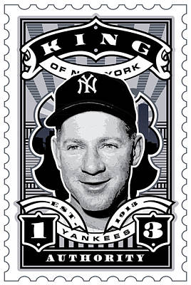 Hall Of Fame Digital Art - Dcla Whitey Ford Kings Of New York Stamp Artwork by David Cook Los Angeles