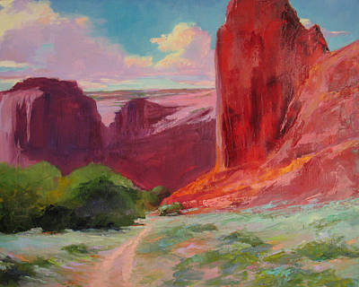 Painting - de Chelly Bluff by Marsha Savage