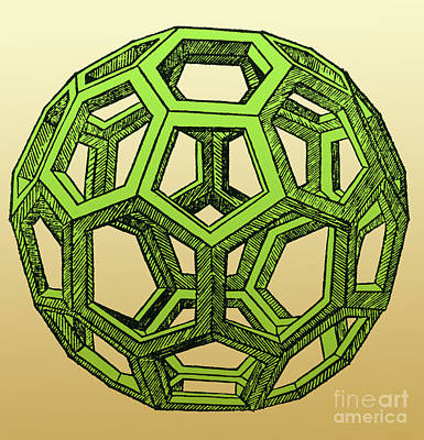 Visual Perceptions Photograph - De Divina Proportione, Icosahedron by Science Source