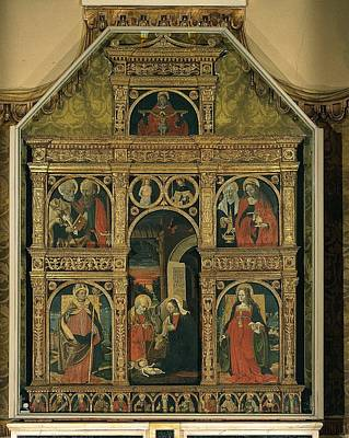 De Donati Aloisio, Polyptych, 1507 Print by Everett