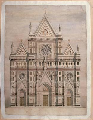 De Fabris Emilio, Dome, Draft Art Print by Everett