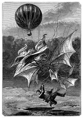 De Groof's Fatal Flight Art Print by Science Photo Library