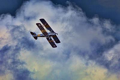 Dh Photograph - De Havilland Dh-82a Tiger Moth V4 by Douglas Barnard