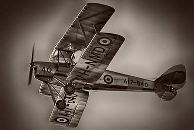 Dh Photograph - De Havilland Dh-82a Tiger Moth V5 by Douglas Barnard