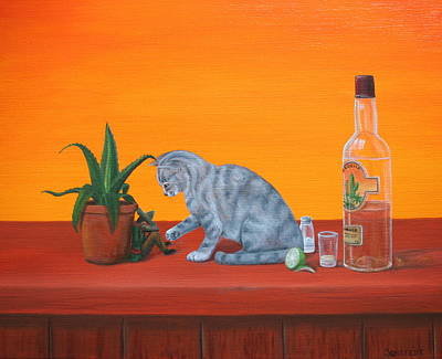 Still Life Painting - De Kater Komt Later/the Hangover Comes Later by Michel Sehstedt