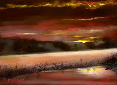 Abstract Digital Painting - De Nuit by Francoise Dugourd-Caput