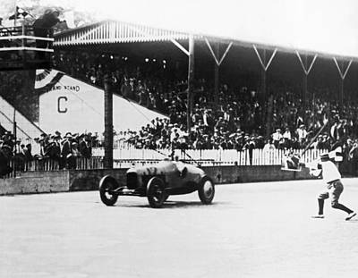 Indianapolis 500 Photograph - De Paolo Winner At Indy 500 by Underwood Archives