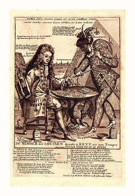 Fleur De Lis Drawing - De Ridder Der Louisen Doende De Revu Over Zyne Troupen by Litz Collection