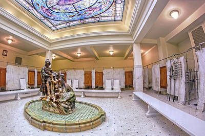 Photograph - De Soto Fountain At Fordyce Bath House - Hot Springs - Arkansas by Jason Politte