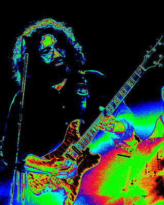Jerry Garcia Photograph - Dead #20 With Cosmic Enhancement 2 by Ben Upham