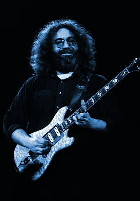 Jerry Garcia Photograph - Dead #3 Blue by Ben Upham
