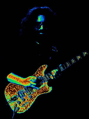 Jerry Garcia Photograph - Dead #32 In Cosmic Colors 2 by Ben Upham