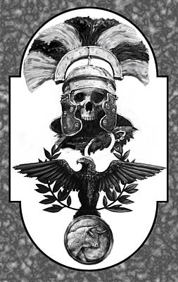 Skeleton Digital Art - Dead Centurion by Matt Kedzierski