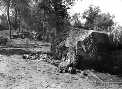 Dead German Soldier Lies Art Print