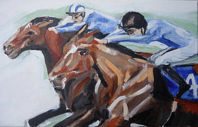 Horserace Painting - Dead Head by Henry Beer