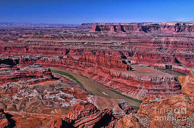 Arial View Photograph - Dead Horse Point by Allen Beatty