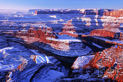 Dead Horse Point At New Year Day Art Print