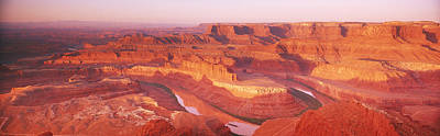 Dead Horse Point At Sunrise In Dead Art Print by Panoramic Images