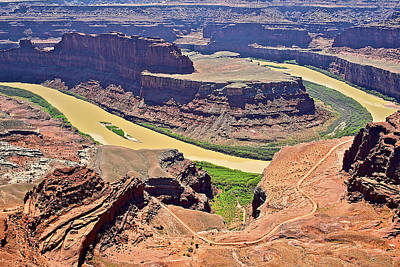 Photograph - Dead Horse Point Colorado River  by SC Heffner