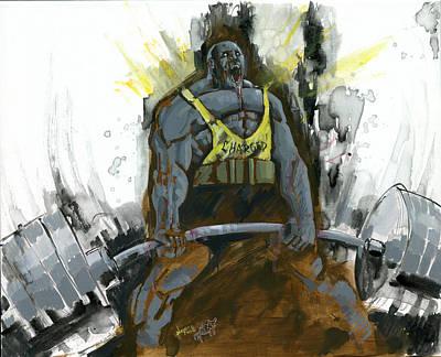 Badass Painting - Dead Lift by Luis  Navarro
