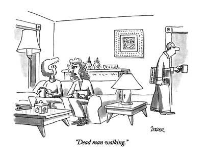 Zombie Drawing - Dead Man Walking by Jack Ziegler