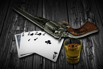 Wild Bill Hickok Photograph - Dead Man's Hand Aces And Eights by Randall Nyhof