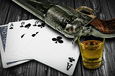 Wild Bill Hickok Photograph - Dead Man's Poker Hand by Randall Nyhof