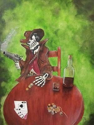 Dead Man's Poker Party Art Print by Teri Merrill