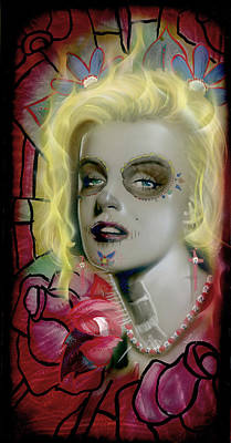 Marylin Painting - Dead Monroe by Luis  Navarro