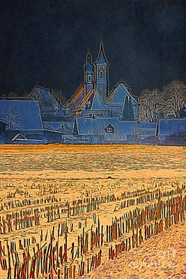 Cornfield Digital Art - Dead Of Night by Jutta Maria Pusl