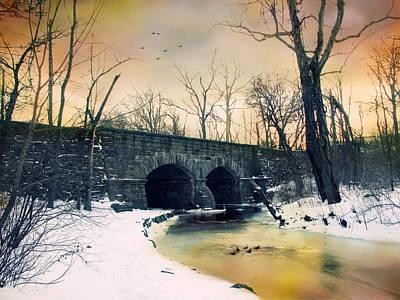 Snow . Bridge Photograph - Dead Of Winter by Jessica Jenney