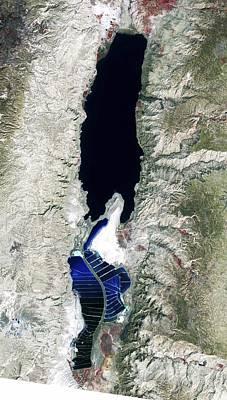7-11 Photograph - Dead Sea, 2011 Satellite Image by Science Photo Library
